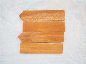 【リメイク】ダイソーの木製ネームプレート(植物用)