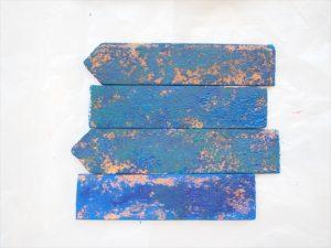 【アイアン風】青のアクリル絵の具
