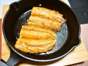 【スキレット】秋刀魚の蒲焼