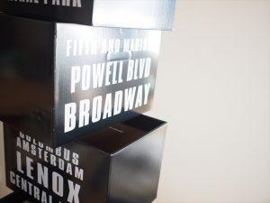 【リメイク】ブルックリン風ペーパーボックス並べた様子