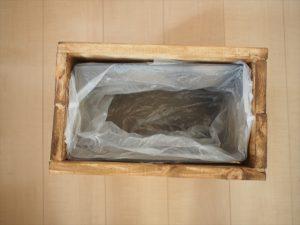 【リメイク】木箱の中に段ボールを入れる