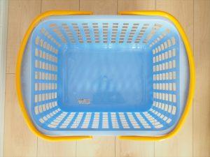 【プラスチック×アイアンペイント】青いカゴ