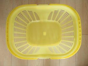 【プラスチック×アイアンペイント】黄色いカゴ