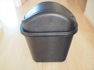 【プラスチック×アイアンペイント】元は赤いゴミ箱